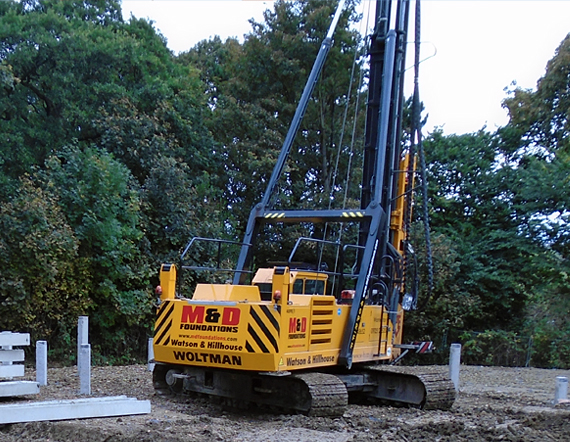 Woltman piling rig